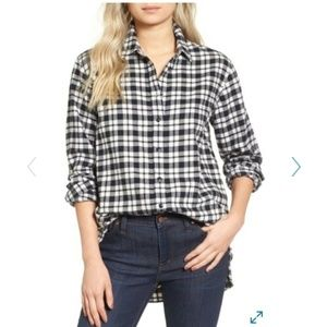 Madewell plaid flannel shirts size M